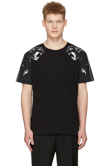 Valentino - Black Two Panthers T-Shirt