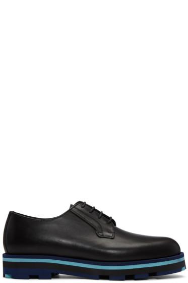 Valentino - Black Lace-Up Derbys