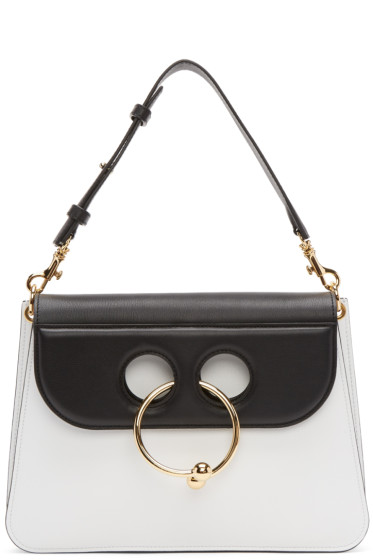 J.W.Anderson - Black & White Medium Pierce Bag