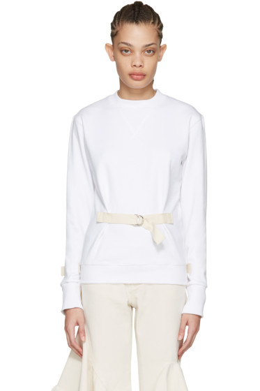 J.W.Anderson - White D-Ring Pullover
