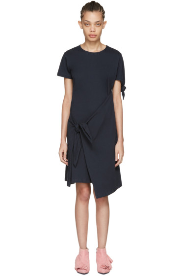 J.W.Anderson - Navy Single Knot T-Shirt Dress