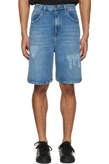 J.W.Anderson - Blue Denim Shorts
