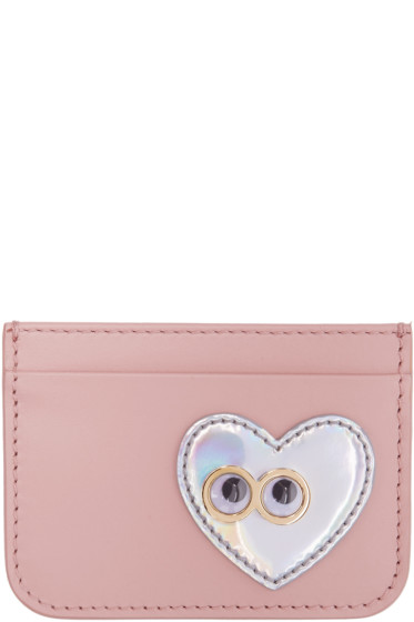 Sophie Hulme - Pink Heart & Eyes Rosebery Card Holder