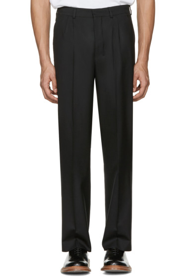 AMI Alexandre Mattiussi - Black Wool Trousers