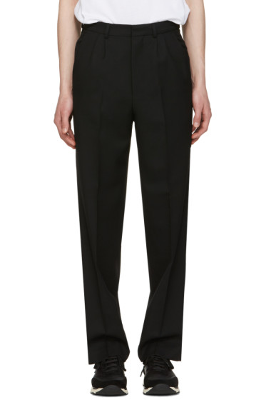 AMI Alexandre Mattiussi - Black Wool Twill Trousers