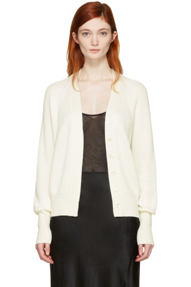 Calvin Klein Collection - Ivory Oversized Eros Cardigan