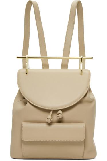 M2Malletier - Beige Leather Single Backpack