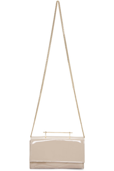 M2Malletier - Beige Patent Mini Amor Fati Bag