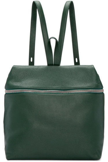 Kara - Green Leather Large Backpack