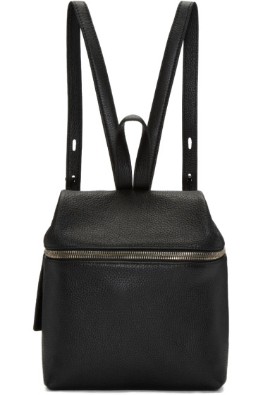 Kara - Black Leather Small Backpack