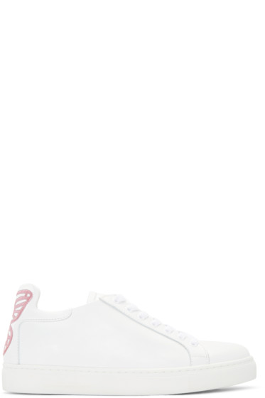 Sophia Webster - SSENSE Exclusive White Leather Bibi Sneakers