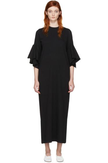 Facetasm - ブラック フレア スリーブ ドレス