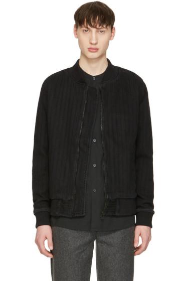 Naked & Famous Denim - Black Denim Bomber Jacket