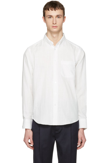 Naked & Famous Denim - White Gauze Regular Shirt