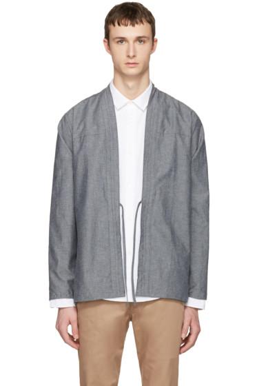 Naked & Famous Denim - SSENSE Exclusive Grey Kimono Shirt