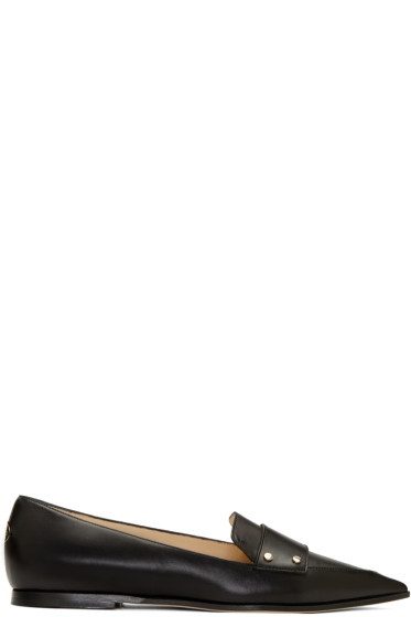 Jimmy Choo - Black Leather Gia Loafers
