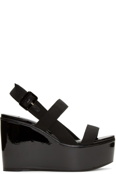 Jimmy Choo - Black Nazil Wedge Sandals