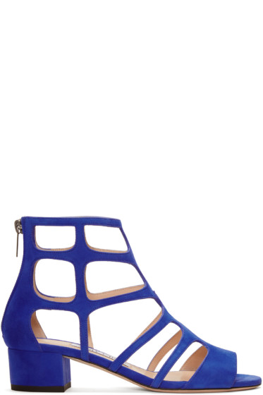 Jimmy Choo - Blue Suede Ren Sandals