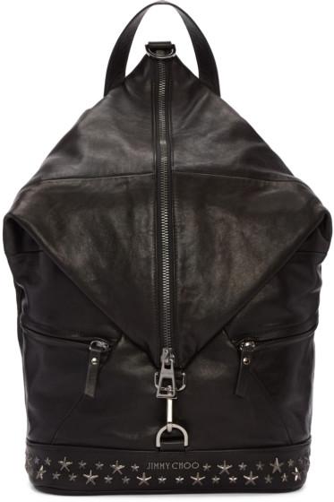 Jimmy Choo - Black Star Fitzroy Backpack