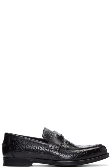 Jimmy Choo - Black Star-Embossed Darblay Loafers