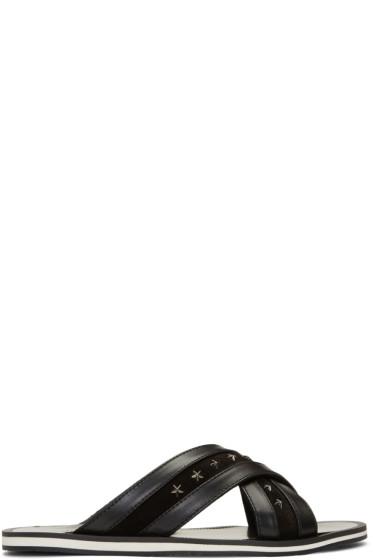 Jimmy Choo - Black Stars Wally Sandals