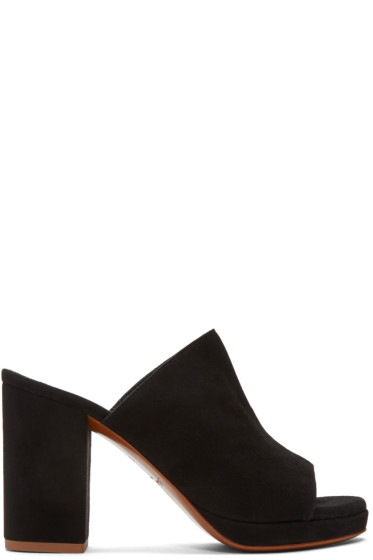 Robert Clergerie - Black Suede Abrice Mules