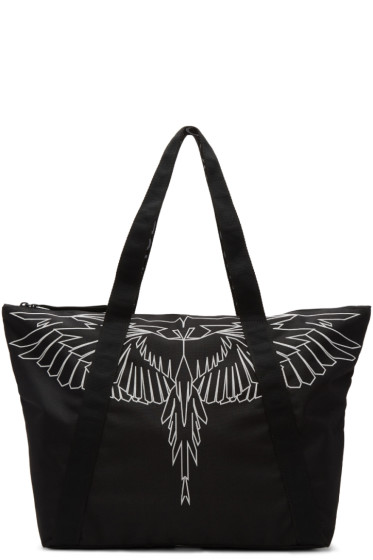 Marcelo Burlon County of Milan - Black Maika Beach Shopper Tote