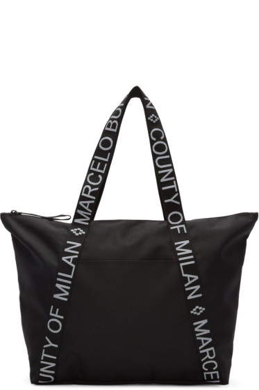 Marcelo Burlon County of Milan - Black Amelia Beach Shopper Tote