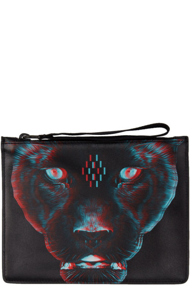 Marcelo Burlon County of Milan - Black Rufo Zip Pouch