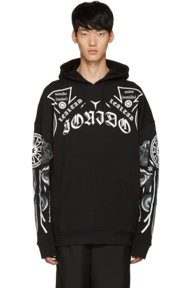 Marcelo Burlon County of Milan - Black Saturnin Hoodie