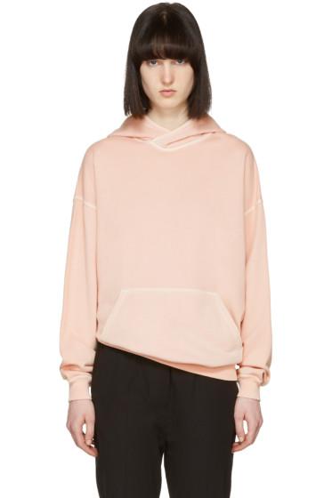 Haider Ackermann - Pull à capuche en coton rose