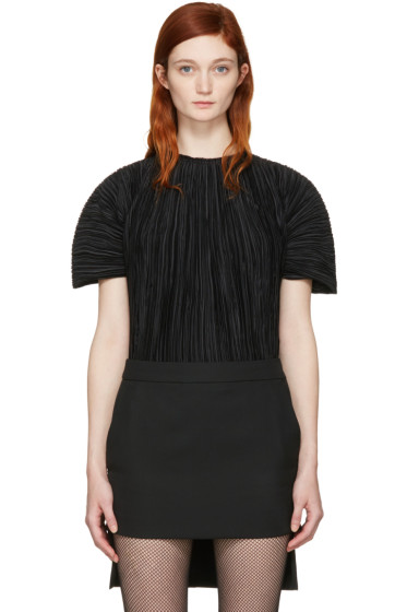 Haider Ackermann - Black Plissé Blouse