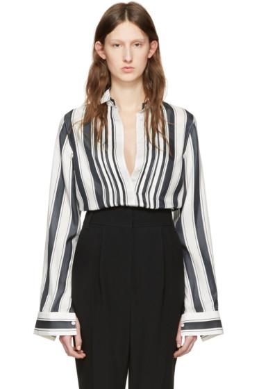 Haider Ackermann - White Striped Silk Shirt