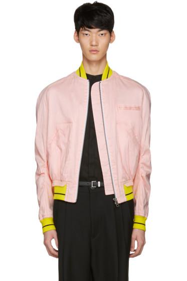Haider Ackermann - Pink Linen Bomber Jacket