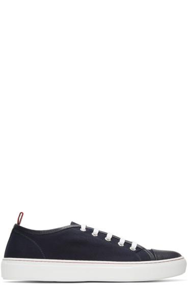 Moncler Gamme Bleu - Navy Canvas Sneakers