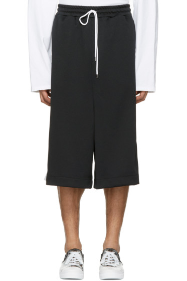 Miharayasuhiro - Black Oversized Track Shorts