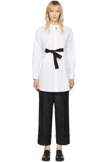 Moncler Gamme Rouge - White Poplin Shirt Dress