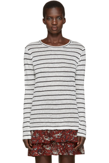 Isabel Marant Etoile - Off-White Striped Aaron T-Shirt