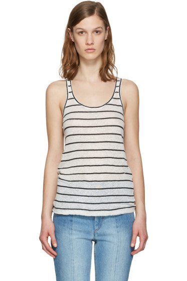 Isabel Marant Etoile - Ecru Striped Avien Tank Top