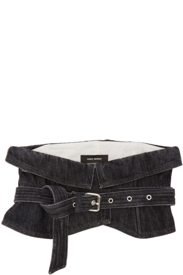 Isabel Marant - Black Denim Erika Belt