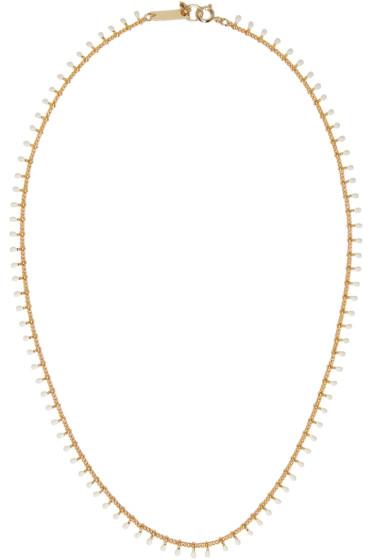 Isabel Marant - Gold Beaded Casablanca Necklace