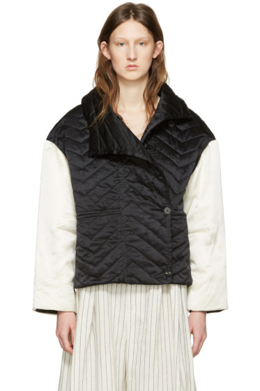 Isabel Marant - Black & White Quilted Hector Jacket