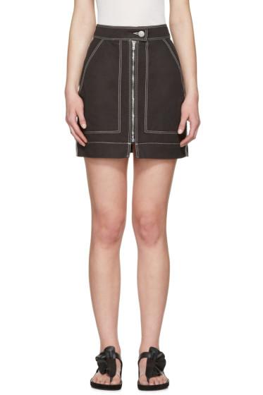 Isabel Marant - Black Workwear Denim Demie Miniskirt