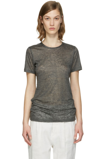 Isabel Marant - Grey Madras T-Shirt
