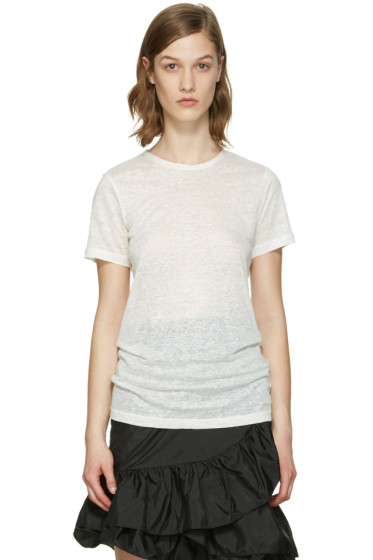 Isabel Marant - White Madras T-Shirt