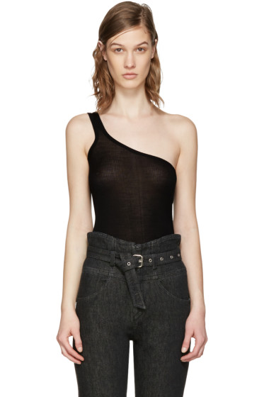 Isabel Marant - Black Mantsy Single-Shoulder Top