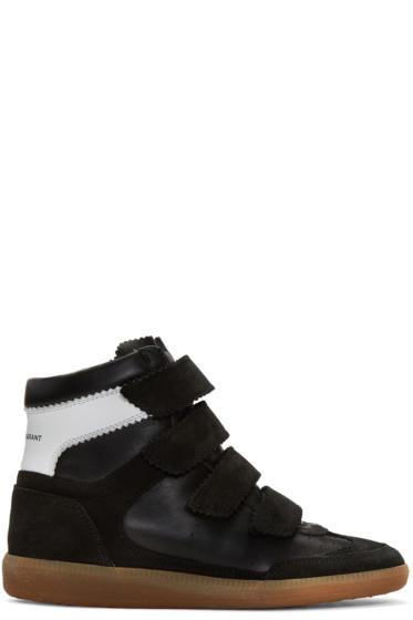 Isabel Marant - Black Suede Bilsy Wedge Sneakers