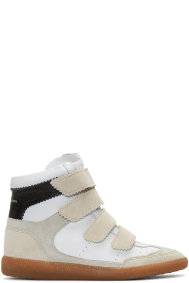 Isabel Marant - Off-White Suede Bilsy Wedge Sneakers