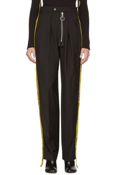 Off-White - Black Zipped Reconstructed Trousers