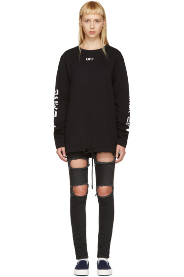 Off-White - Black Quotes T-Shirt